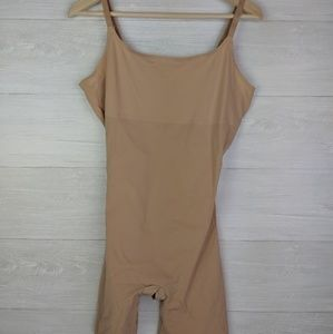 NWOT Red Hot Spanx Nude Mid Thigh Bodysuit